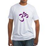 The Purple Aum/Om Fitted T-Shirt