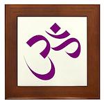 The Purple Aum/Om Framed Tile