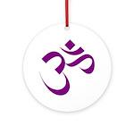 The Purple Aum/Om Ornament (Round)
