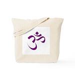 The Purple Aum/Om Tote Bag