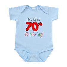 Opa 70th Birthday Onesie