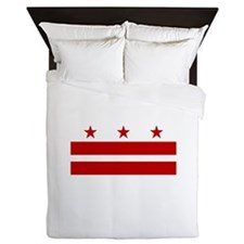 District of Columbia Flag Queen Duvet