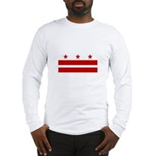 District of Columbia Flag Long Sleeve T-Shirt