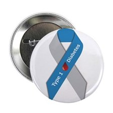 "Type 1 Diabetes Awareness Ribbon 2.25"" Button"