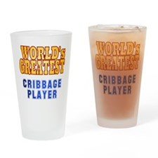 World's Greatest Cribbage Player Drinking Glass
