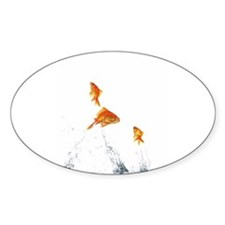 jumping goldfish Decal