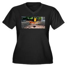 Red Ant Women's Plus Size V-Neck Dark T-Shirt