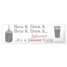 Delicious Cycle Bumper Sticker (10 pk)