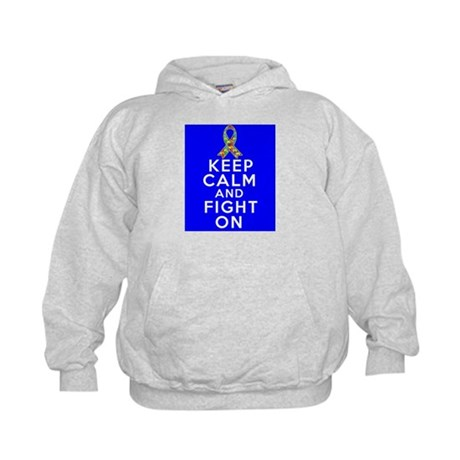 Autism Keep Calm and Fight On Kids Hoodie
