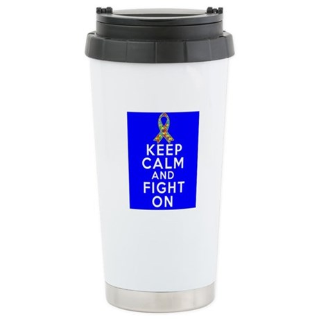 Autism Keep Calm and Fight On Ceramic Travel Mug