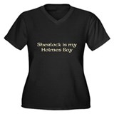 Sherlock Women's Plus Size V-Neck Dark T-Shirt