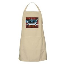 Black cat red bathroom BBQ Apron