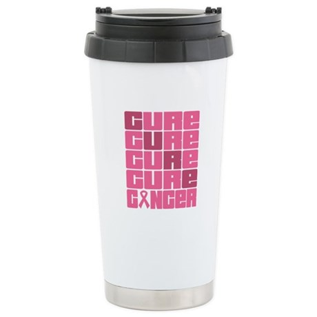 CURE Breast Cancer Ceramic Travel Mug