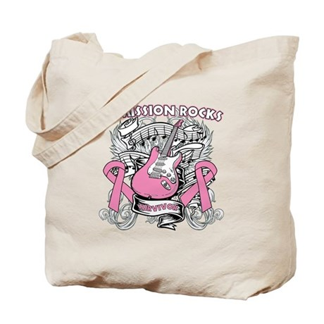 Breast Cancer Remission Rocks Tote Bag