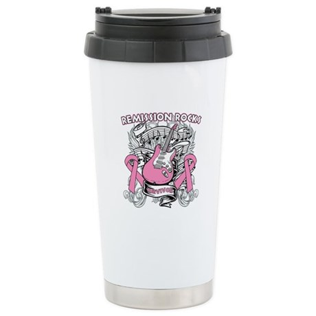 Breast Cancer Remission Rocks Ceramic Travel Mug