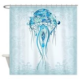 Beautiful Jellyfish Shower Curtain
