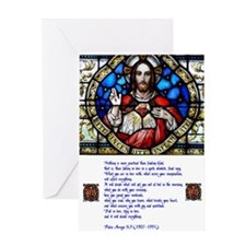 Sacred Heart and Arrupe prayer Greeting Card