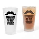 Attached to the Stache Drinking Glass
