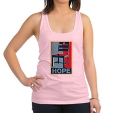 Obama - Hope and a Chair Racerback Tank Top