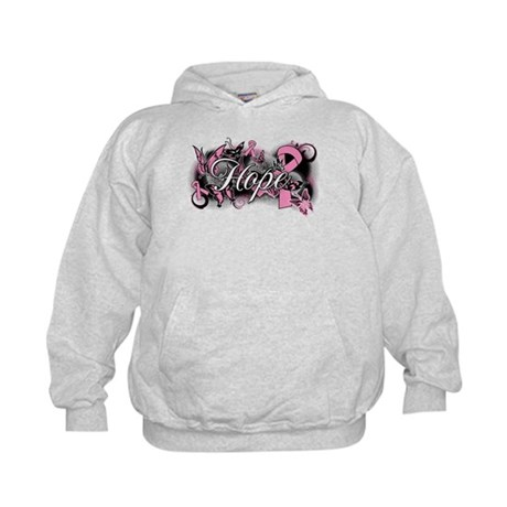 Breast Cancer Hope Garden Kids Hoodie