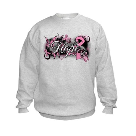 Breast Cancer Hope Garden Kids Sweatshirt
