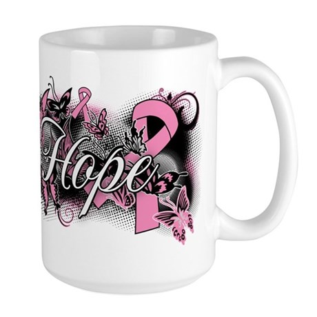 Breast Cancer Hope Garden Large Mug
