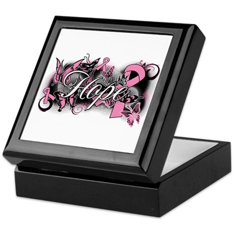 Breast Cancer Hope Garden Keepsake Box