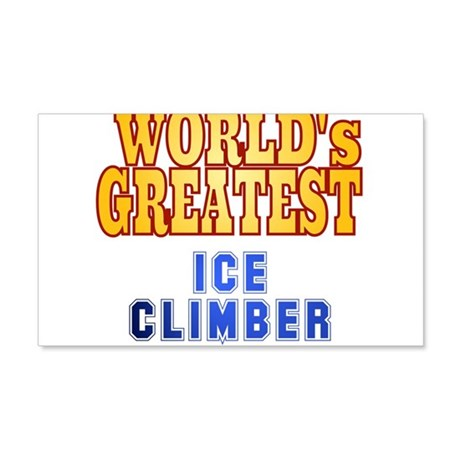 World's Greatest Ice Climber 20x12 Wall Decal