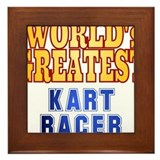 World's Greatest Kart Racer Framed Tile
