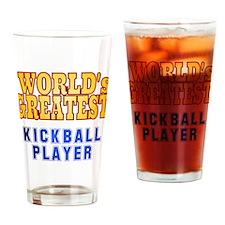 World's Greatest Kickball Player Drinking Glass