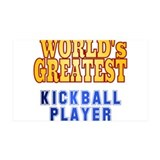 World's Greatest Kickball Player Wall Sticker