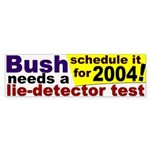 Bush Lie Detector Bumper Sticker