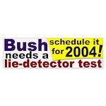 Bush Lie Detector Bumper Sticker