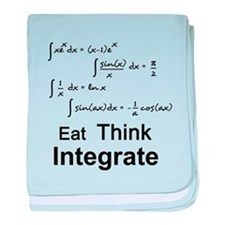 Eat. Think. Integrate. baby blanket