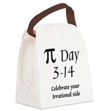 Pi Day - March 14 Canvas Lunch Bag