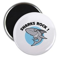 "Sharks rock! 2.25"" Magnet (100 pack)"