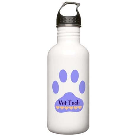 Vet Tech Paw 22 Stainless Water Bottle 1.0L