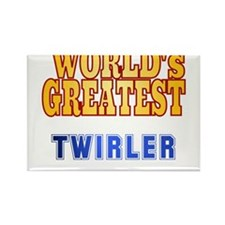 World's Greatest Twirler Rectangle Magnet