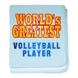 World's Greatest Volleyball Player baby blanket