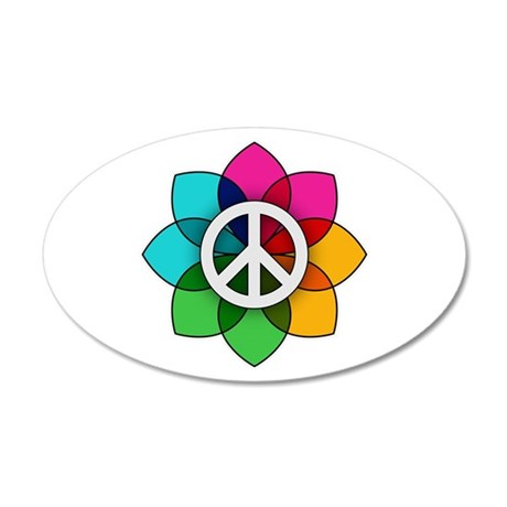 Flower of Peace 35x21 Oval Wall Decal