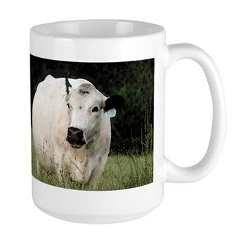 British White Cow - Color #2 Large Mug