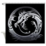 Tribal Dragon Shower Curtain