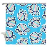 Colorful Pawprints Shower Curtain