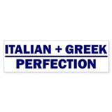 Italian + Greek Bumper Bumper Sticker