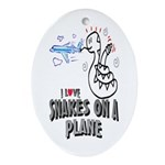 Snakes On A Plane Oval Ornament