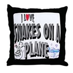 Snakes On A Plane Throw Pillow