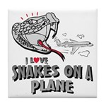 Snakes On A Plane Tile Coaster