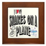Snakes On A Plane Framed Tile