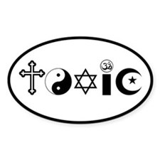 Religion is Toxic Decal