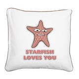 Starfish Square Canvas Pillow